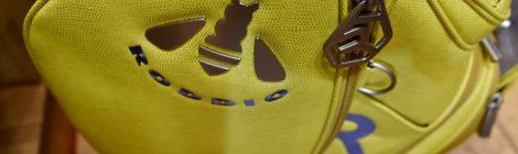 マスタードカラーのロッディオプレミアムキャディバッグ|大信プロダクト